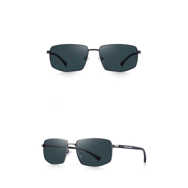 Stylish Rectangular Polarized Sunglasses For Men-Sevenedge Perfect Gifts