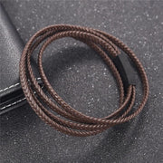 Three-Strand Braided Leather Bracelet-Sevenedge Perfect Gifts