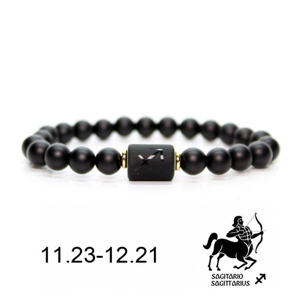 Unisex Black Stone Zodiac Bracelet-Sevenedge Perfect Gifts