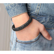 Unisex Braided Leather Bracelet In 3 Colours-Sevenedge Perfect Gifts