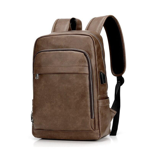 Vegan Leather Luxury Messenger Backpack-Sevenedge Perfect Gifts