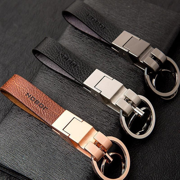 Vegan Leather Metal Keychain-Sevenedge Perfect Gifts