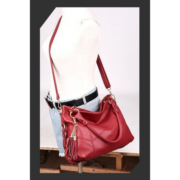 Vintage Leather Crossbody Tote-Sevenedge Perfect Gifts