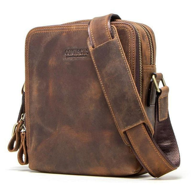 Vintage Leather Messenger Bag For Men-Sevenedge Perfect Gifts