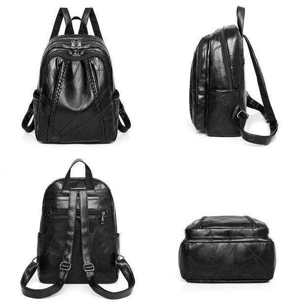Vintage Travel Black Backpack-Sevenedge Perfect Gifts