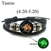 Zodiac Leather Bracelet-Sevenedge Perfect Gifts