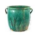 Antique Green Pot with Handles