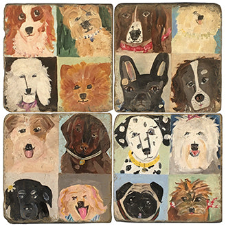 Stone Tile Coaster: Dogs