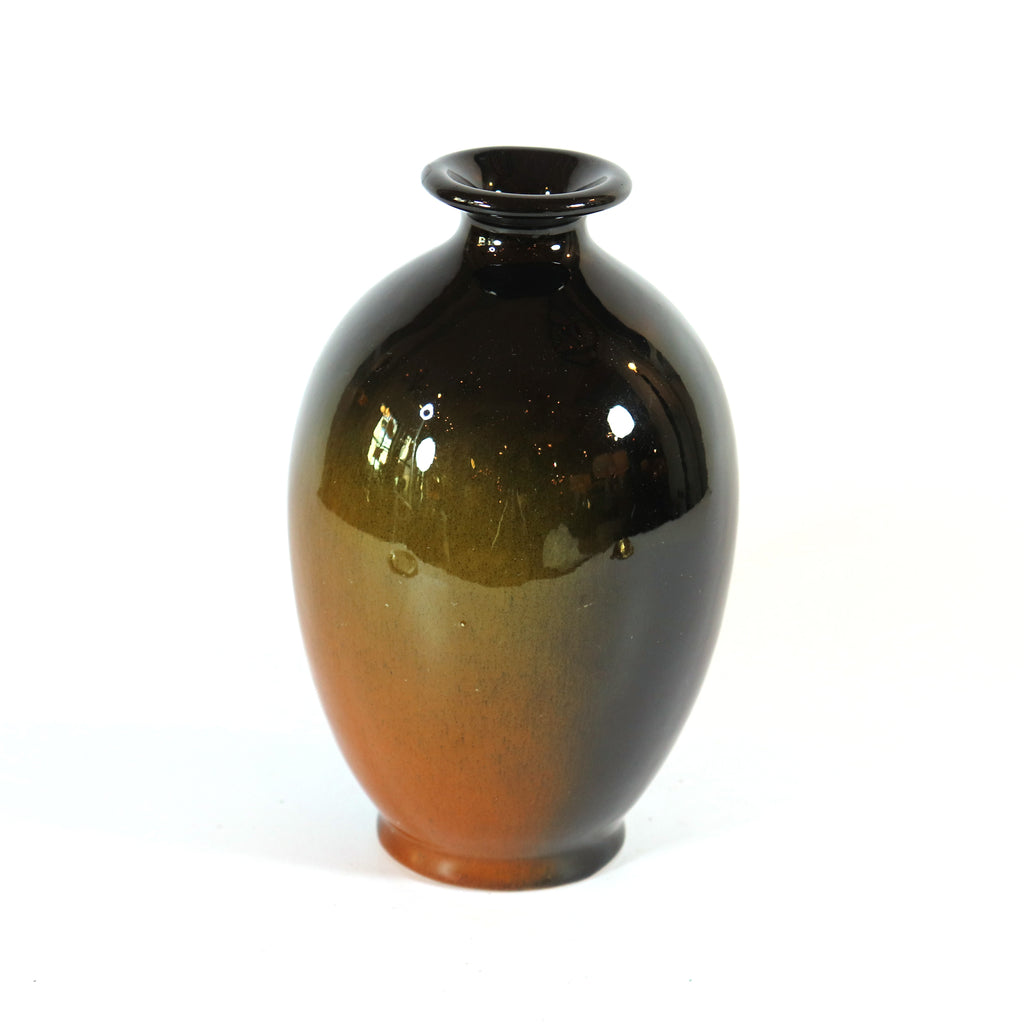 Vintage Vase, Dark Plum, with Factory Mark