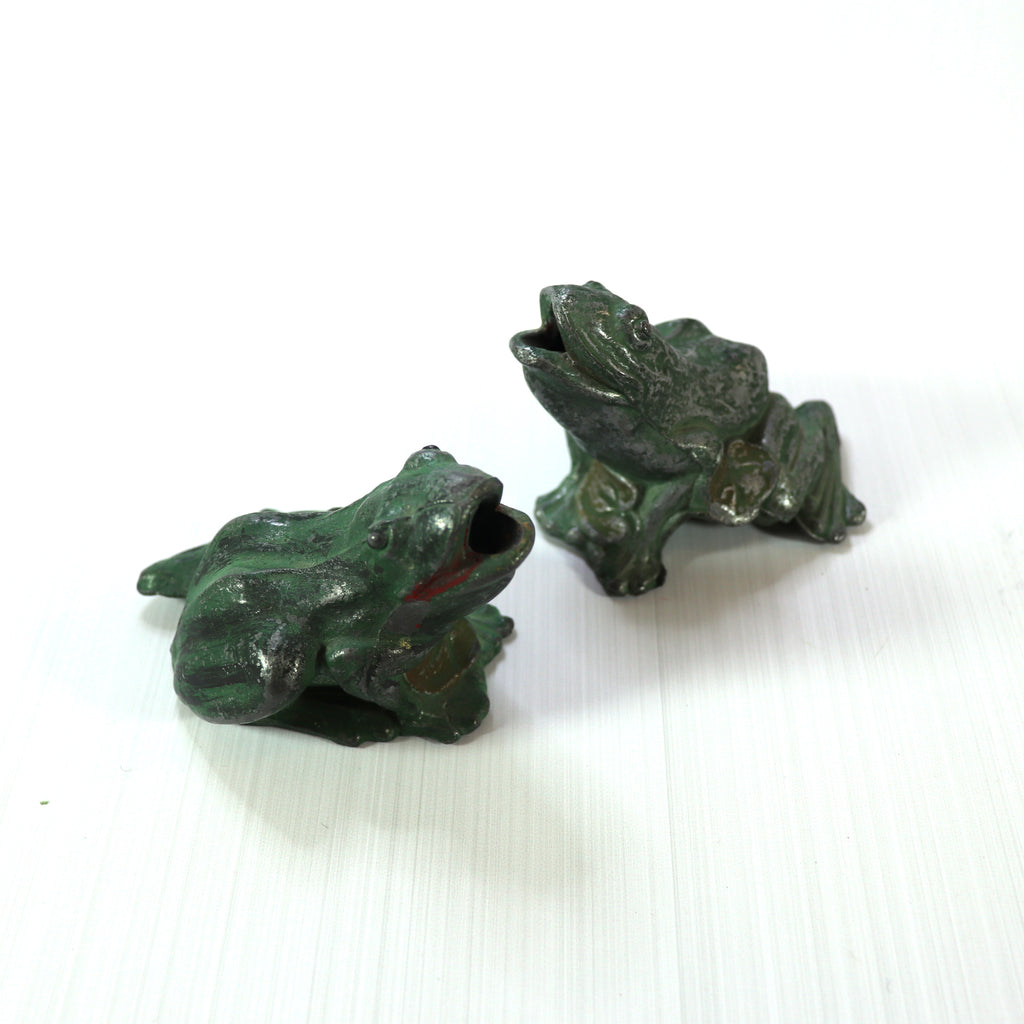 Vintage Lead Frog with Patina
