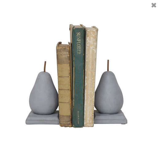 Pear Bookends
