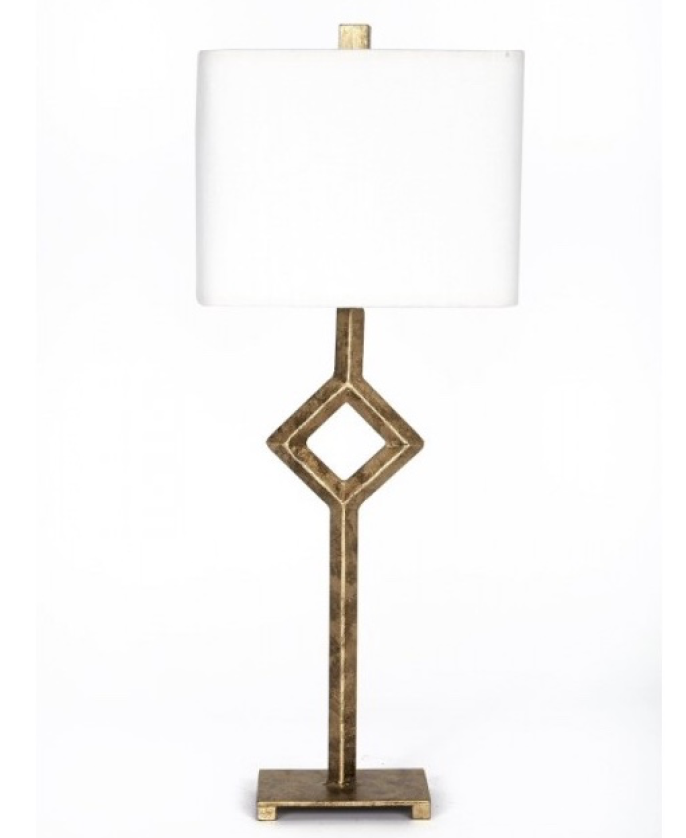 Gold Finish Iron Table Lamp