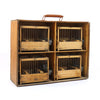 Set of 4 Vintage French Bird Cages with Case