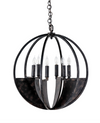 Iron 6-Candle Orb Chandelier, 60W