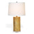 Gold Lamp with Lucite Base & White Shade