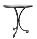 Black Iron Accent Table