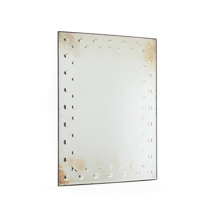 Antiqued Mirror with Bubbles