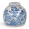 Blue & White Jar with Birds & Flowers
