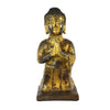 Gilt Bronze Praying Buddha, Kneeling