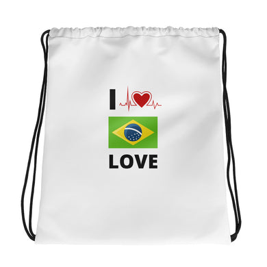 Drawstring I Love Brazil bag - THE PLUG