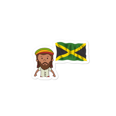 Jamaica Flag stickers - THE PLUG