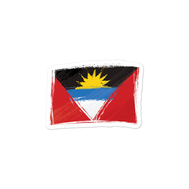 Antigua and Barbuda Flag stickers - THE PLUG