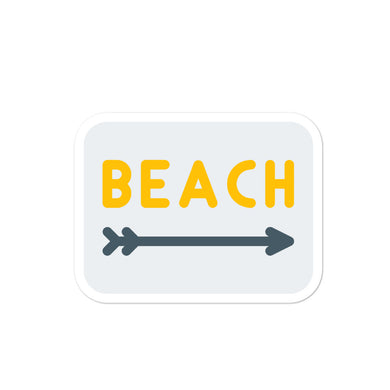 Beach to the right stickers - THE PLUG