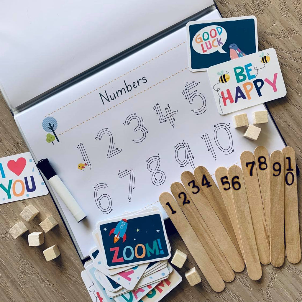 Personalised Number, Shape + Pattern Kit + Little Critters Lunch Notes Bundle