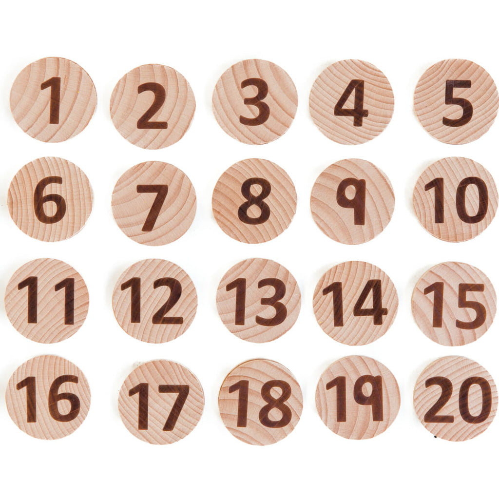 Tactile Wooden Number Set