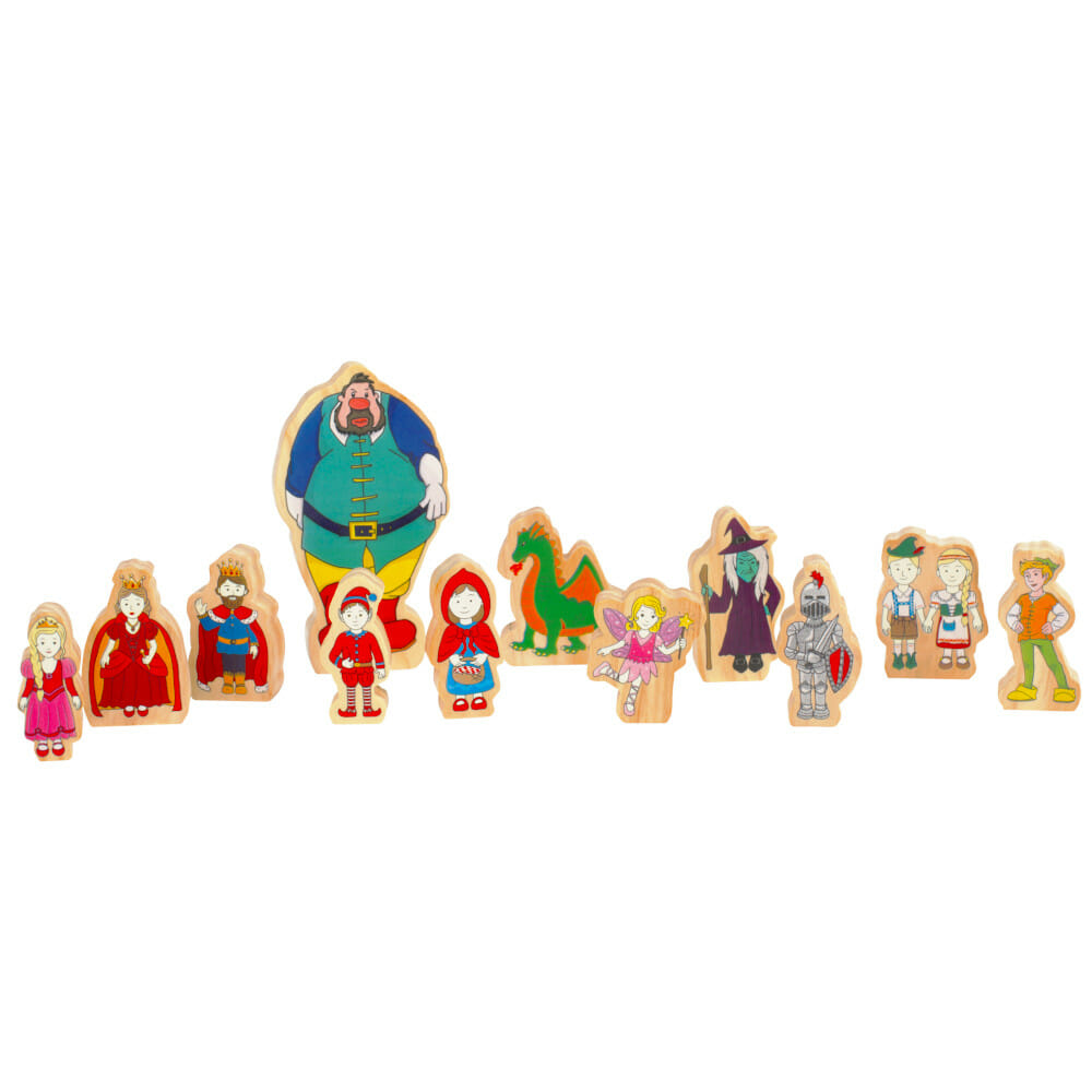 Wooden Fairy Tale Characters