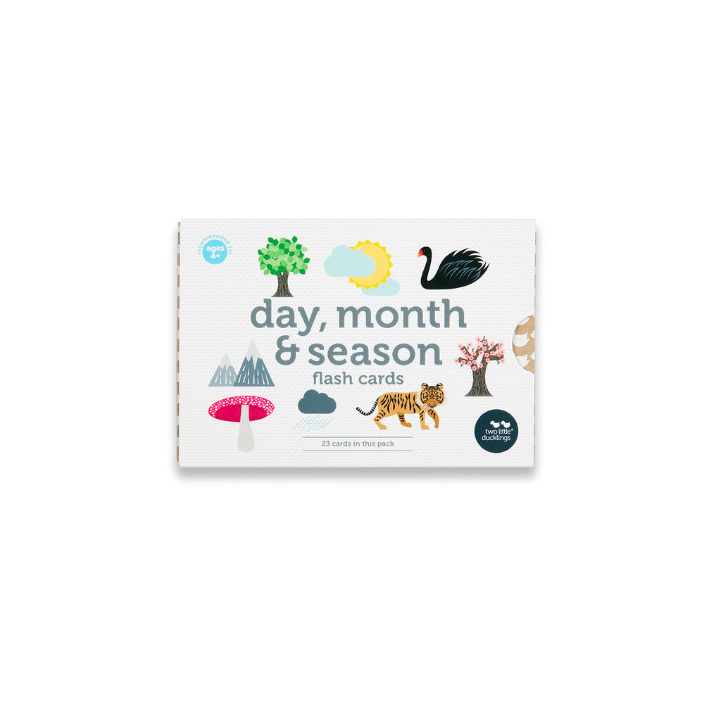 Day, Month and Season Flash Cards + FREE Flash Card Stand