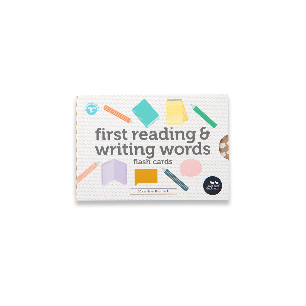 First Reading and Writing Words Flash Cards