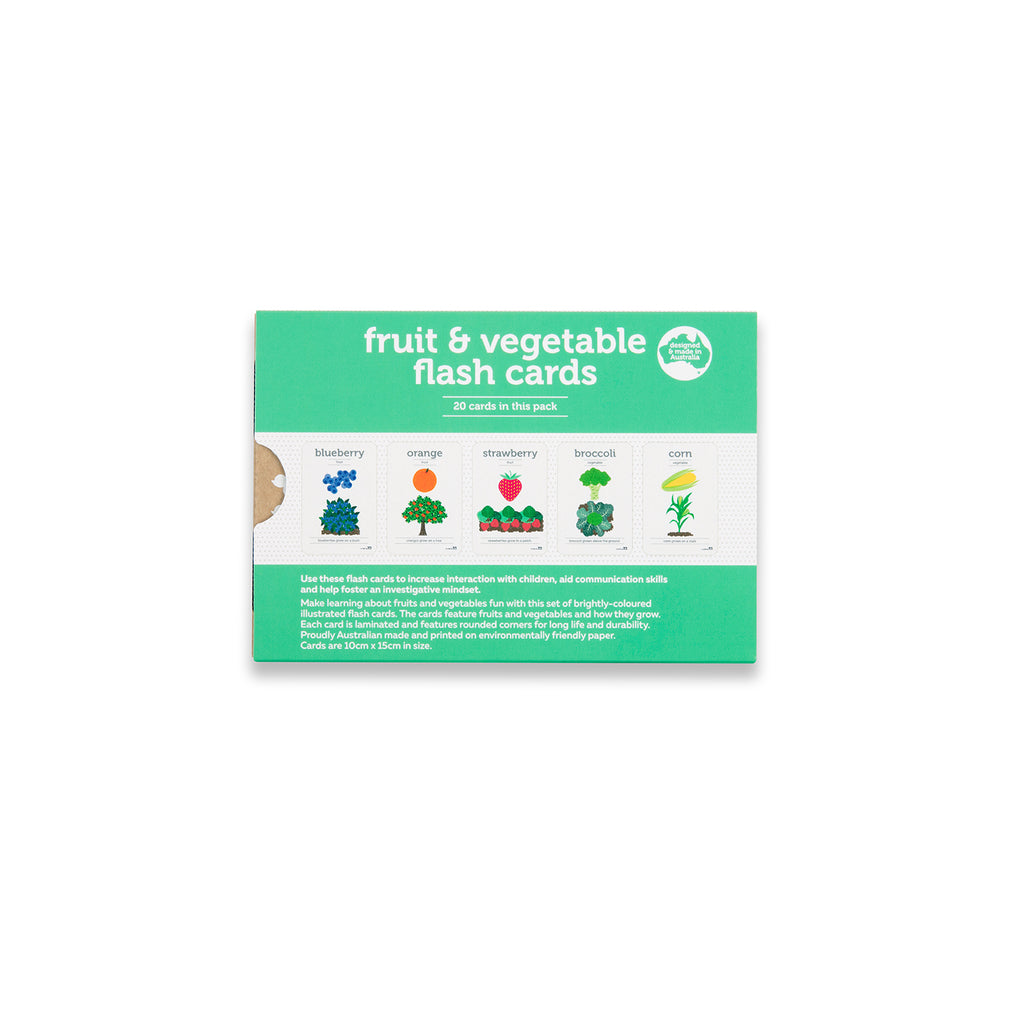 Fruit and Vegetables Flash Cards
