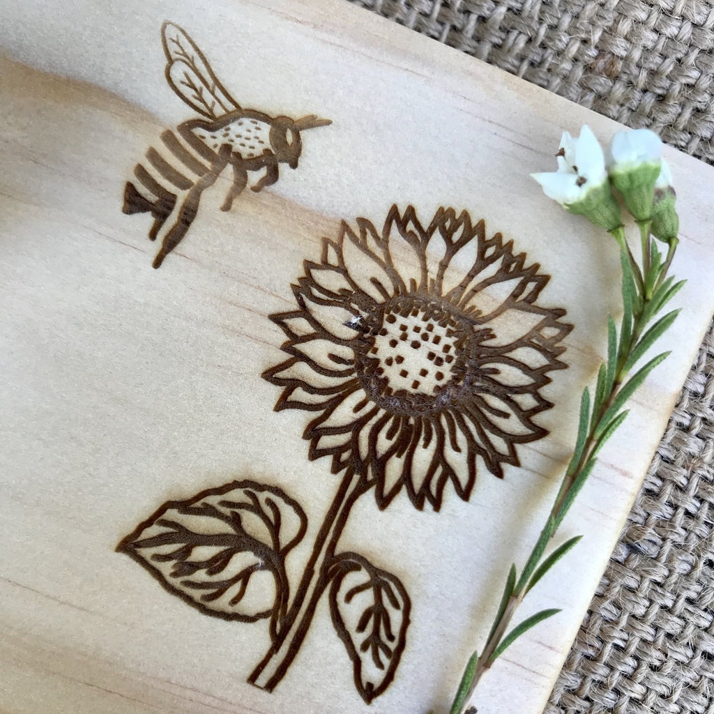 Playdough Board - Bee & Sunflower