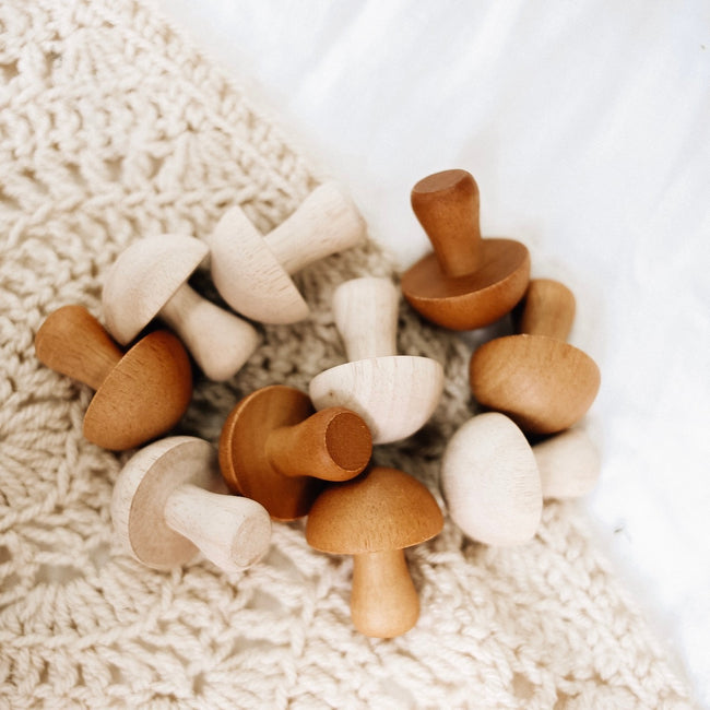 Natural Wooden Mushrooms