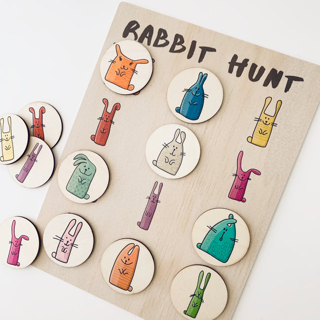 Rabbit Hunt Activity Board Set