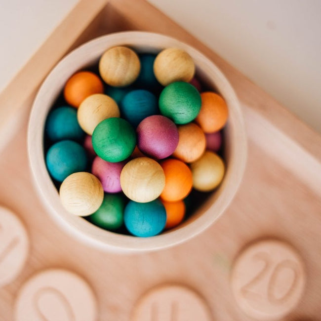 Coloured Wooden Balls Set of 50