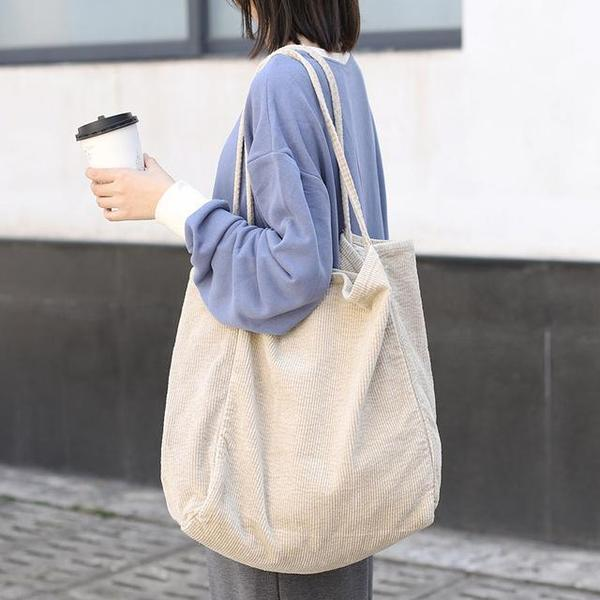 Oversized Cord Tote Bag