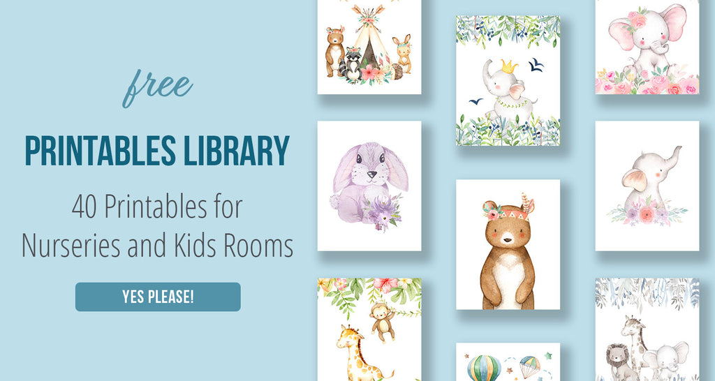 Free Printables Library for Nurseries and Kids Rooms