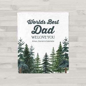 Tall Pines Personalized Adult Blanket Gift for Dad