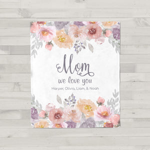 Dusty Garden Personalized Blanket for Mom