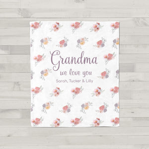 Dusty Blooms Personalized Gift for Grandma