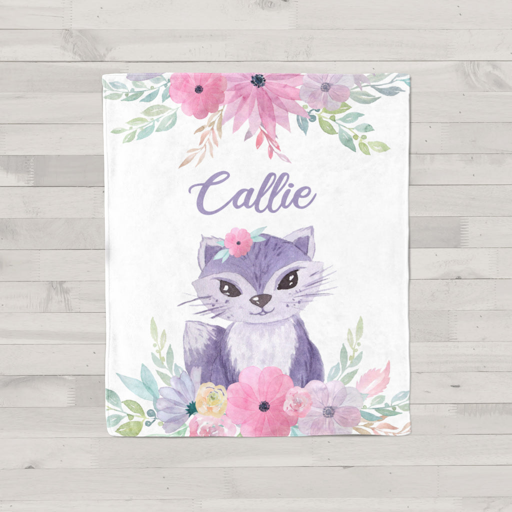 Callie Cat Personalized Minky Blanket