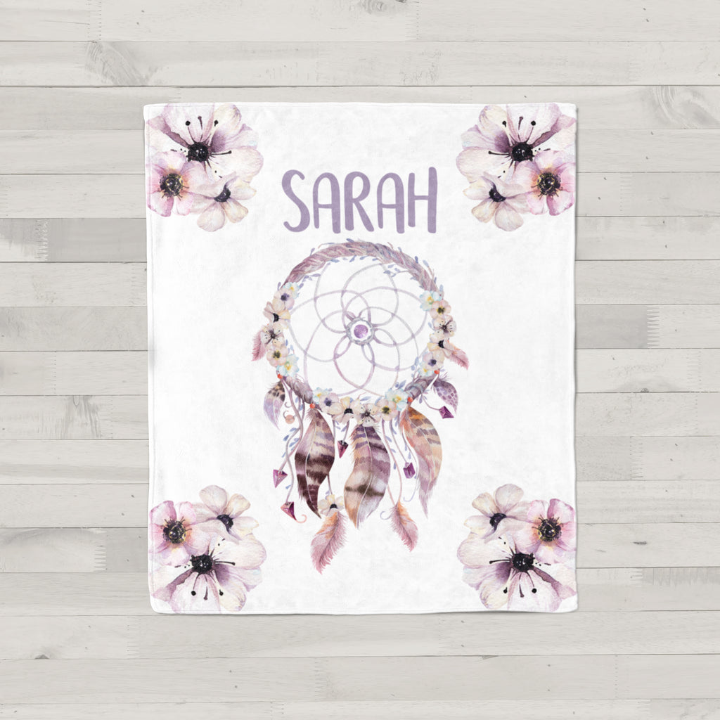 Dream Catcher Personalized Minky Blanket