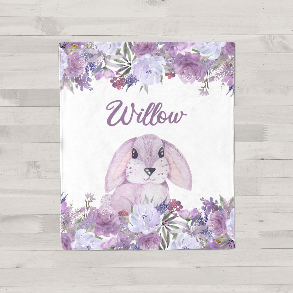 Willow Bunny Personalized Minky Blanket
