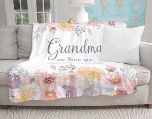 Dusty Garden Personalized Grandma Blanket