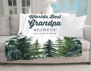 Tall Pines Personalized Adult Blanket for Grandpa