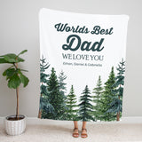 Tall Pines Personalized Adult Blanket for Dad