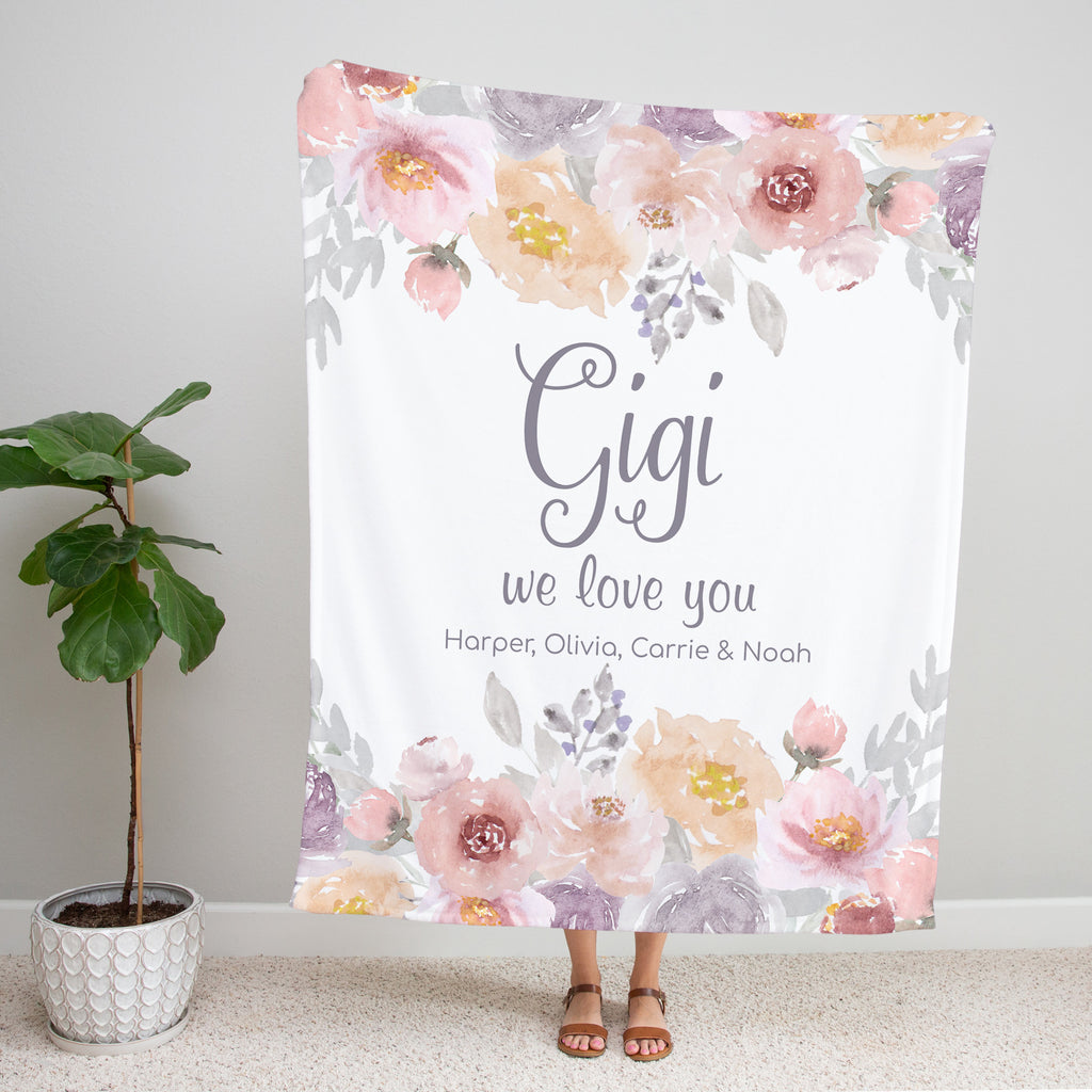 Dusty Garden Personalized Gigi Blanket