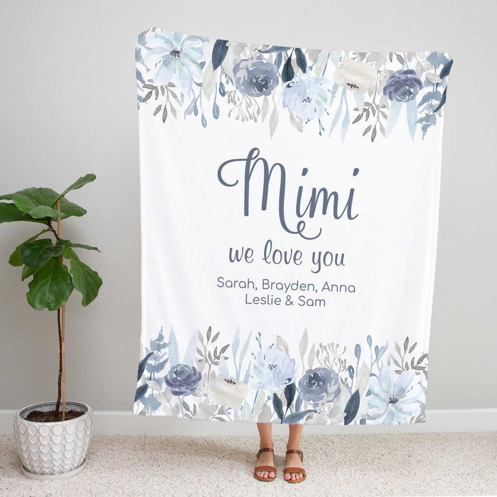 Fields of Blue Personalized Mimi Blanket